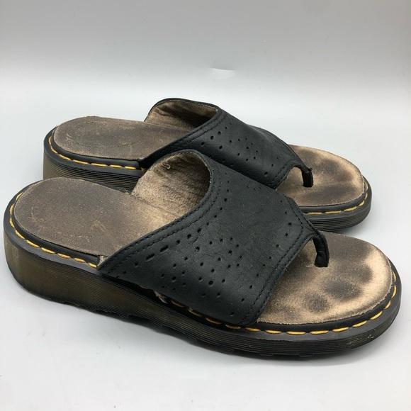 platform doc sandals
